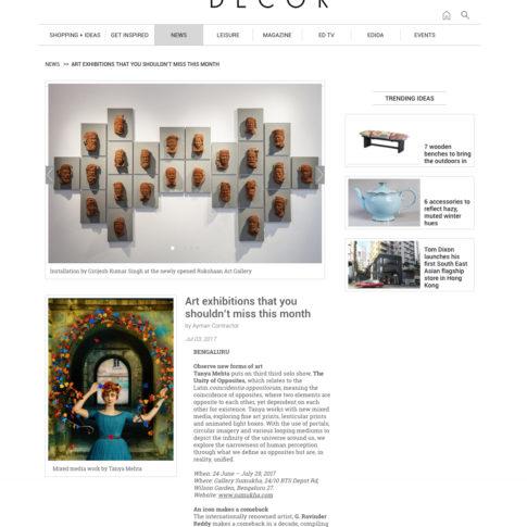 Elle Decor _ 3rd Jul 2017